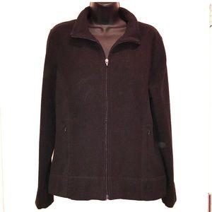 Izod Fleece Black Full Zip Jacket
